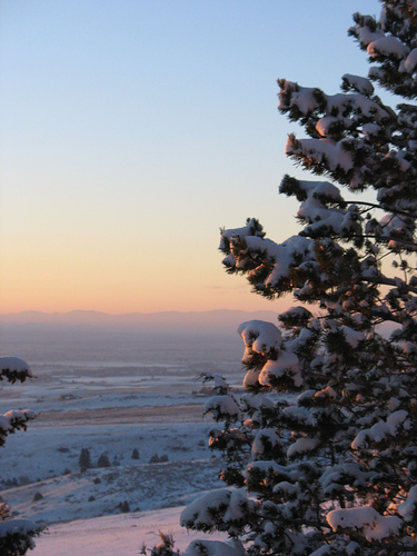 Winter Sunset from